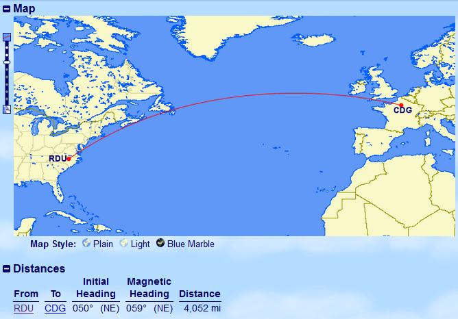 @Delta to Upgrade RDU-CDG Flight