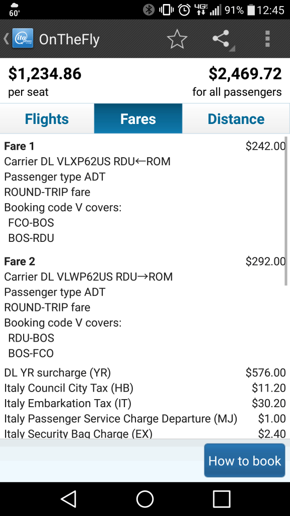 OnTheFly: Fare Details