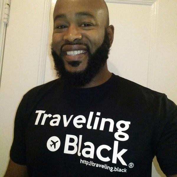traveling black-classic tee