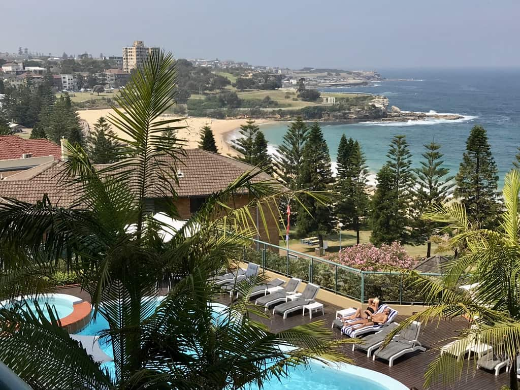 View from Crowne Plaza Coogee Beach