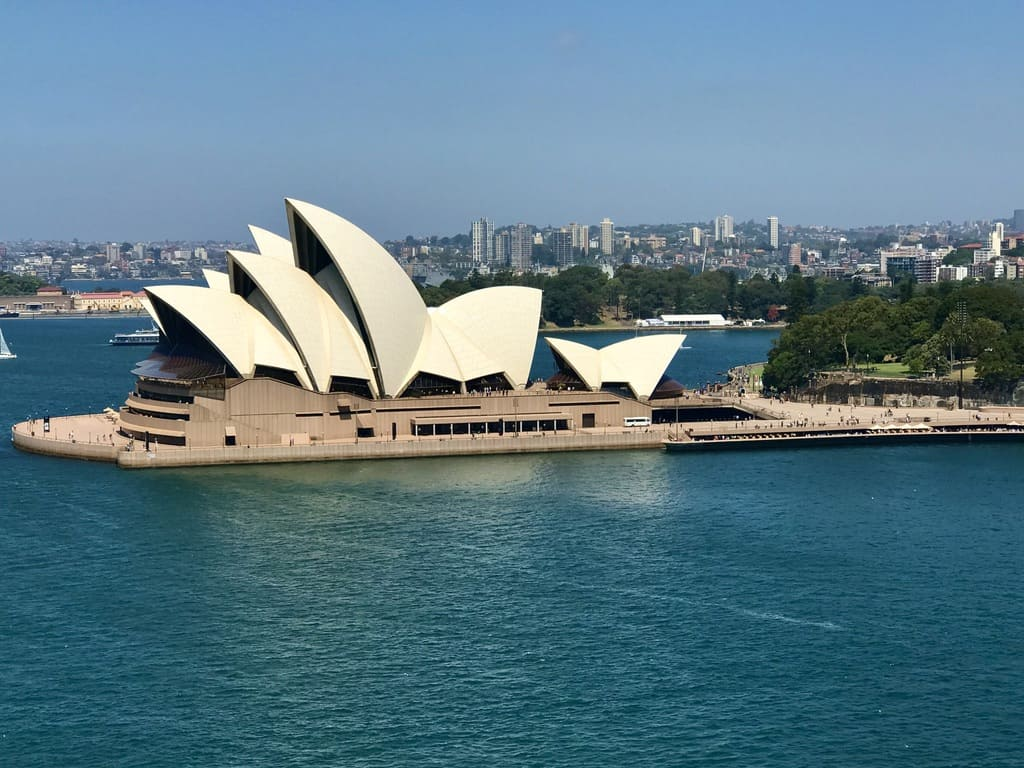 View of Opera House from Harbour Bridge