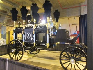 The Abraham Lincoln Hearse is at the Illinois State Fair Museum