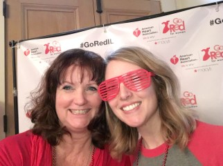 Red dress dash - volunteering and learning about heart health