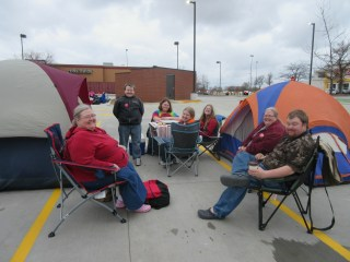 Chick-fil-A camp out!