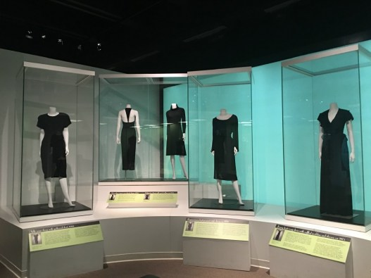 The Little Black Dress exhibit is at the Missouri History Museum