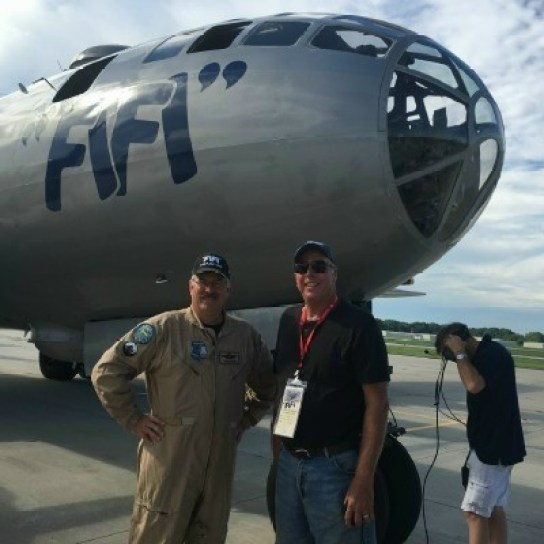 Keith with Mark Novak, his pilot on the B29 bomber.