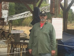 John Young poses at the Cracker Creek Mine