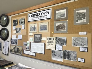 The Pine Valley Community Museum has history of the Corncopia Mine and town.