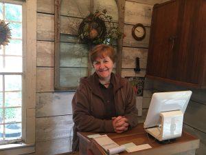 Linda Huey working at the Village Homestead