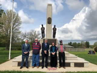 Ireland's Ambassador visits Mother Jones Monument!