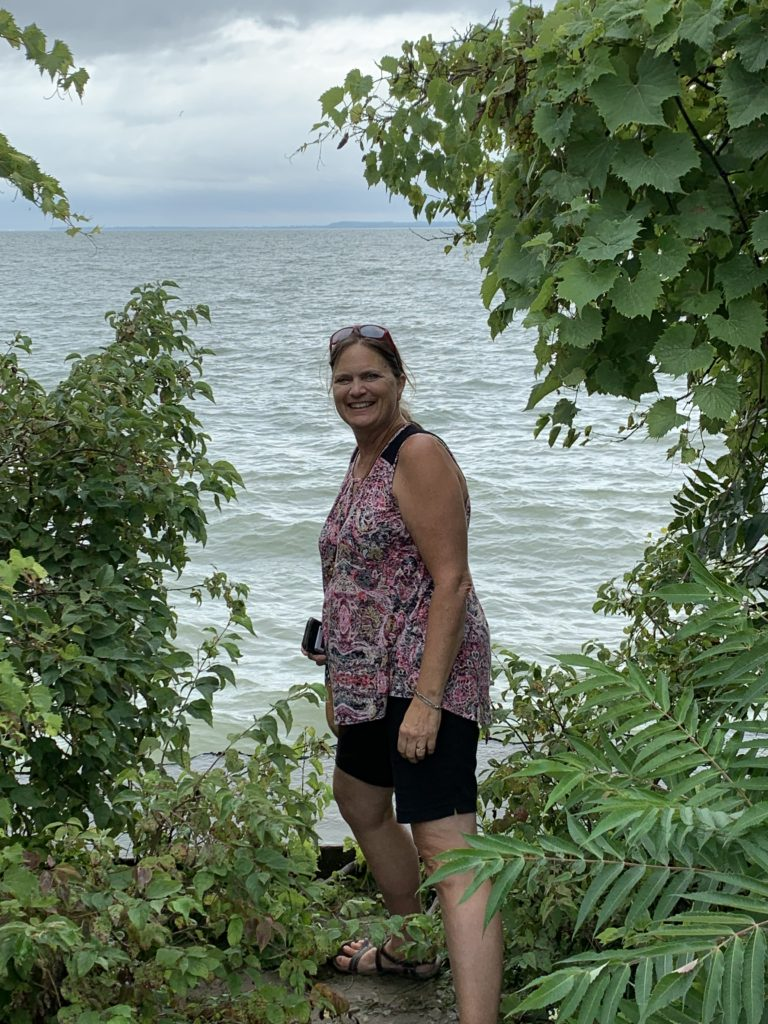 Sara Broers checking out nature on Put-in-Bay!