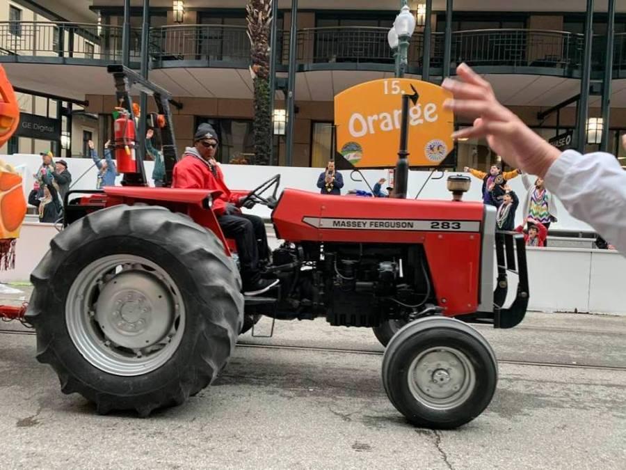 tractors at Mardis Gras