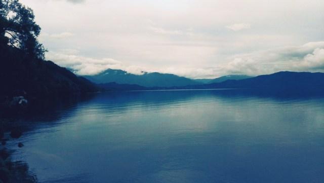 秋田県田沢湖の景色