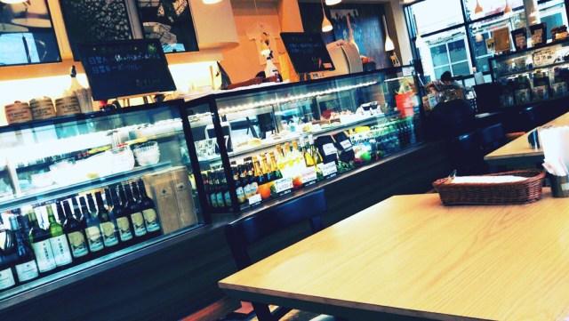 函館のカフェakiraの雰囲気