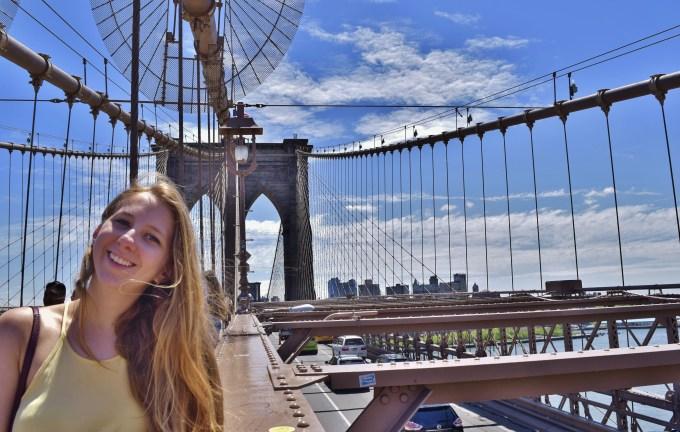 An Image on the Brooklyn Bridge in NYC.