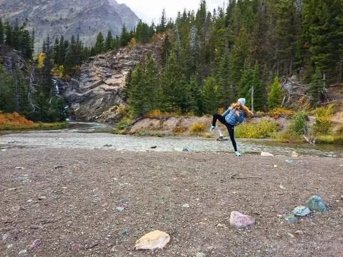 Dancing in Glacier National Park in Montana.