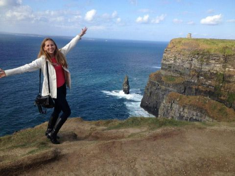 Erin at the Cliffs of Moher