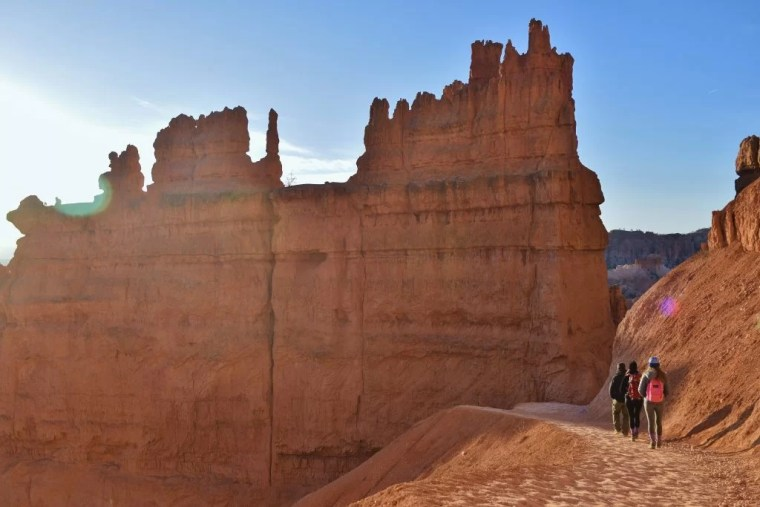 Walking on the Navajo Loop Trail in Bryce Canyon