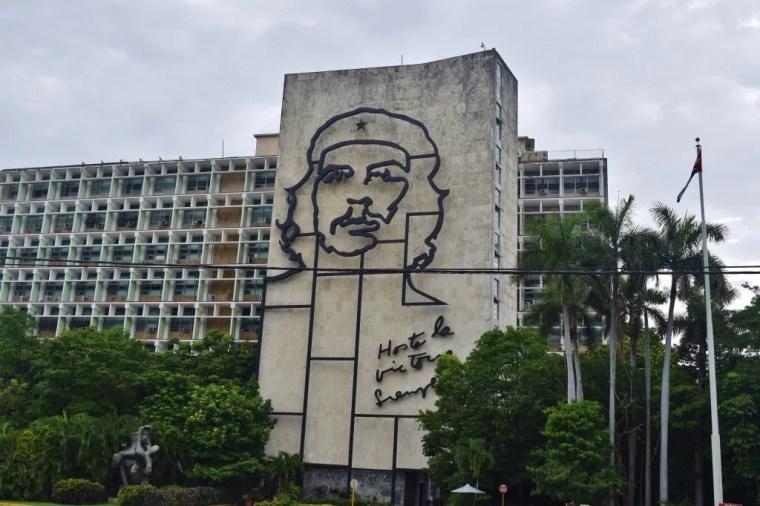 Famous picture of Che Guevara in Havana, Cuba.