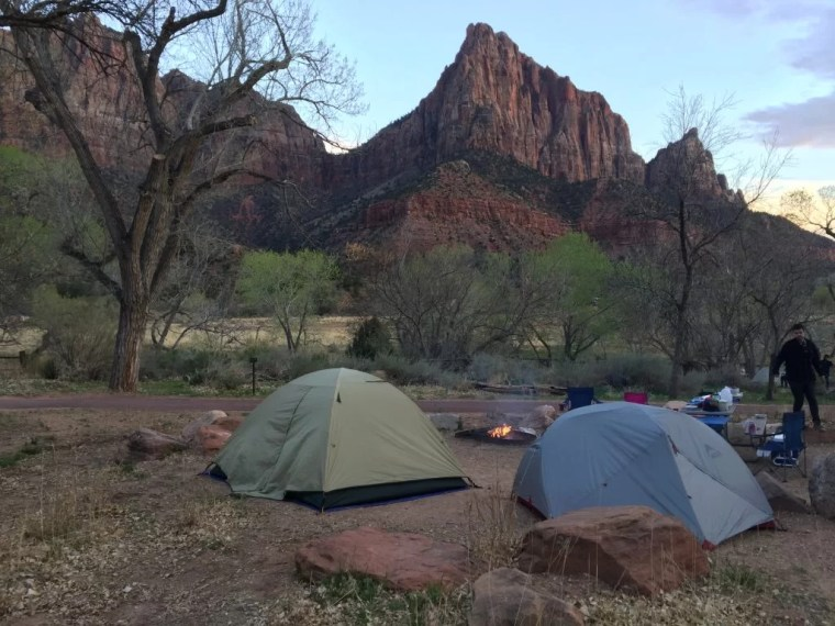 South Campground views in Zion National Park.