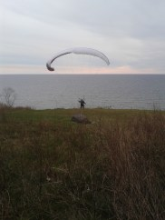 Came upon this glider training with the wind...