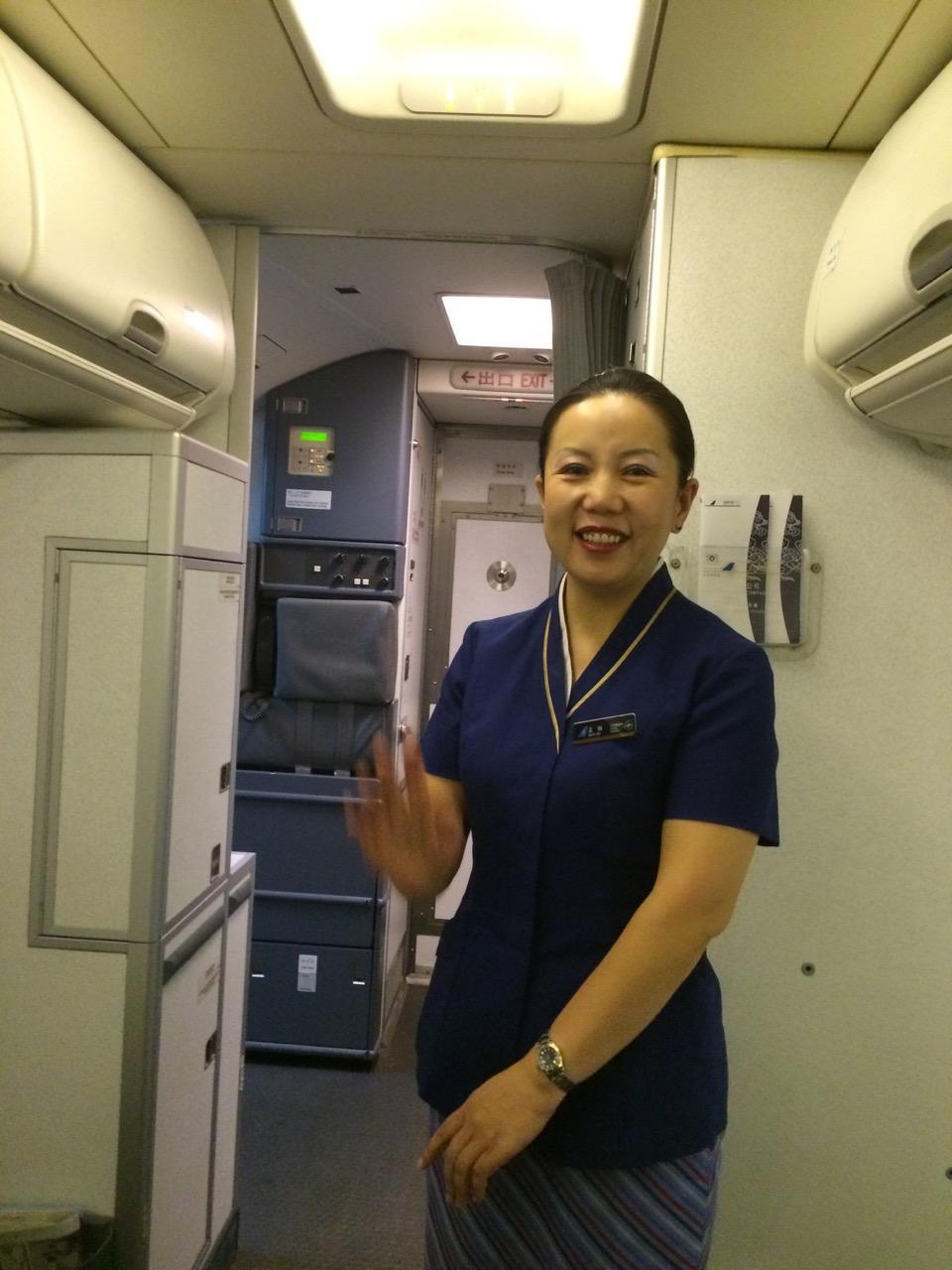 China Southern flight attendants are uberfriendly
