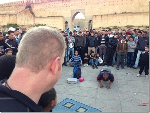 acrobat gathering in fez