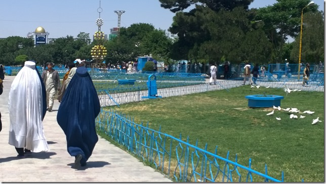 Strolling in a Burka in the Park