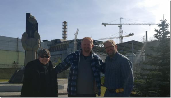 Chernobyl tour friends