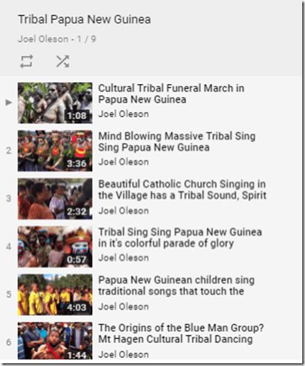 Joel Oleson Youtube Channel - Papua New Guinea Playlist