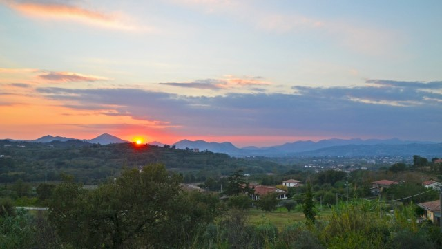 One of the beautiful sunsets in Sant'Agata de' Goti. @travelingintandem