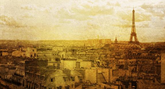 Sepia vintage Paris