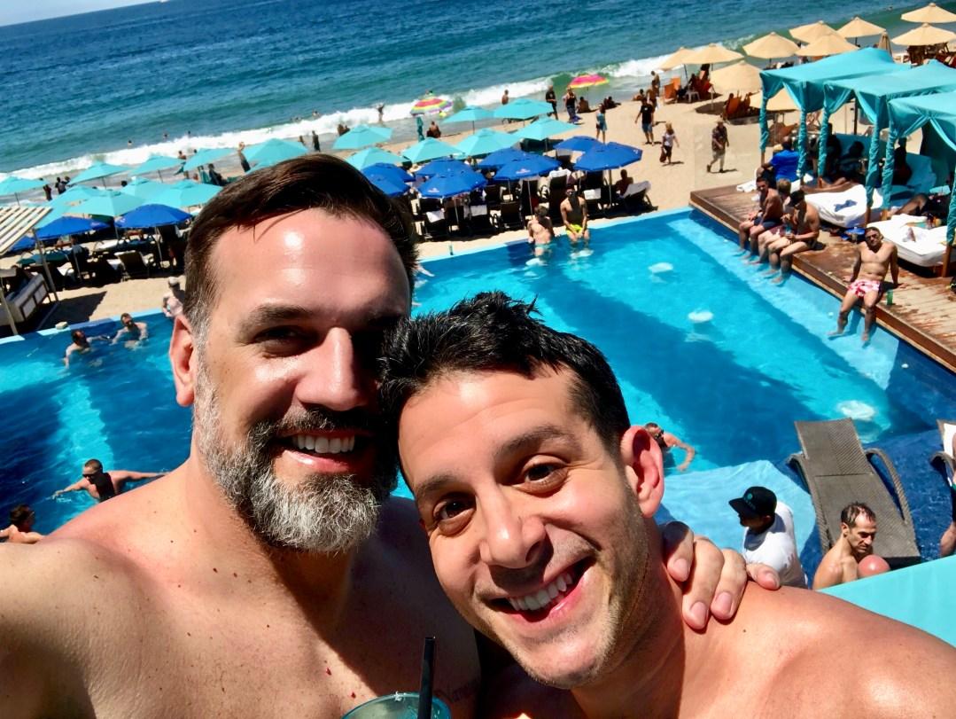 Pool at gay hotel