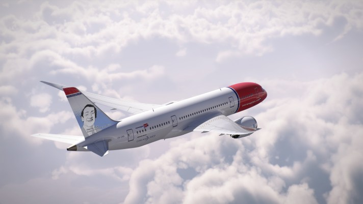 Norwegian honors Harvey Milk on their tail fin