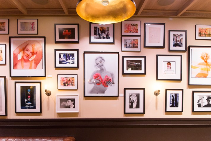 The Red Party is Bert Stern's pop-up exhibition with photos of Marilyn Monroe at the HGU New York Hotel