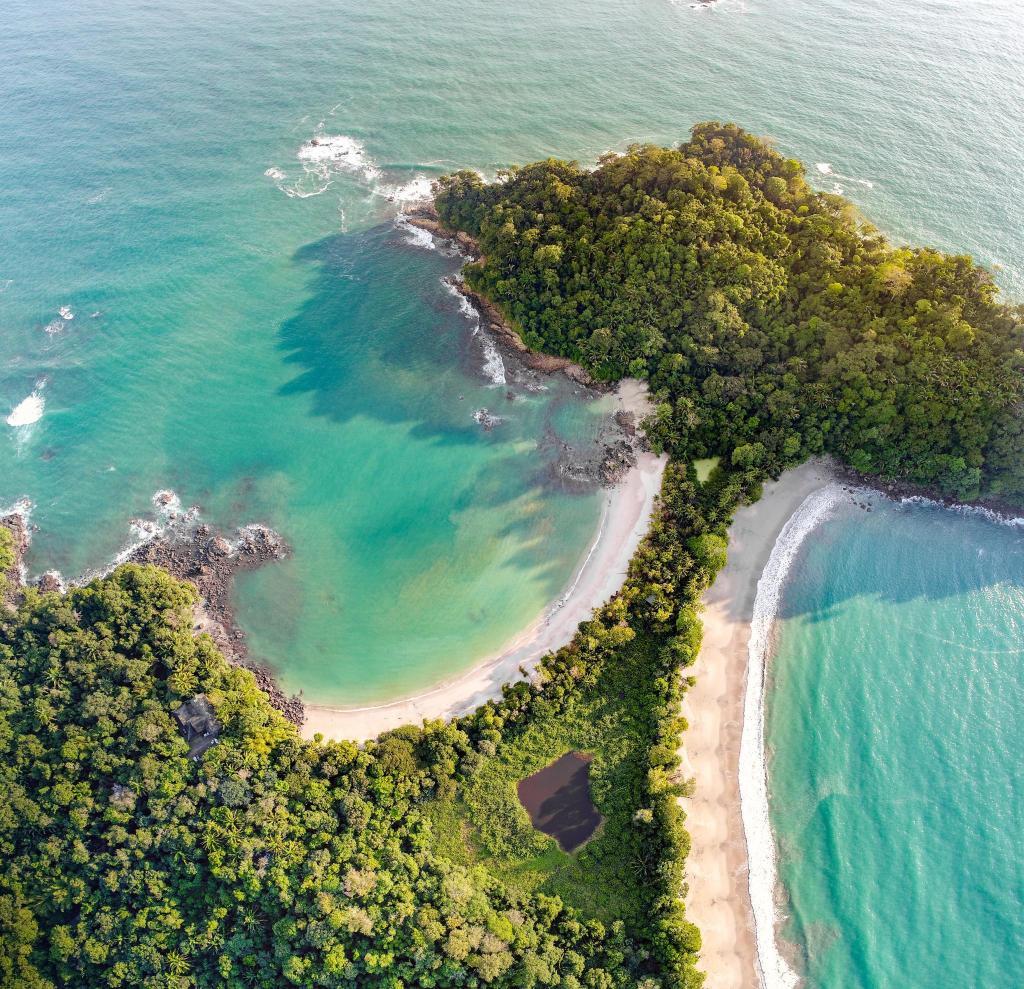 Aerial view of Parque Nacional Manual Antonio, Costa Rica