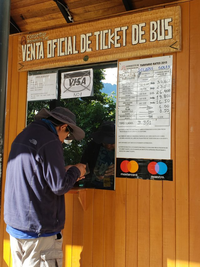 Machu Picchu Bus Ticket Office