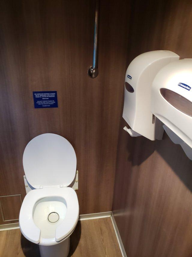 Machu Picchu train bathroom