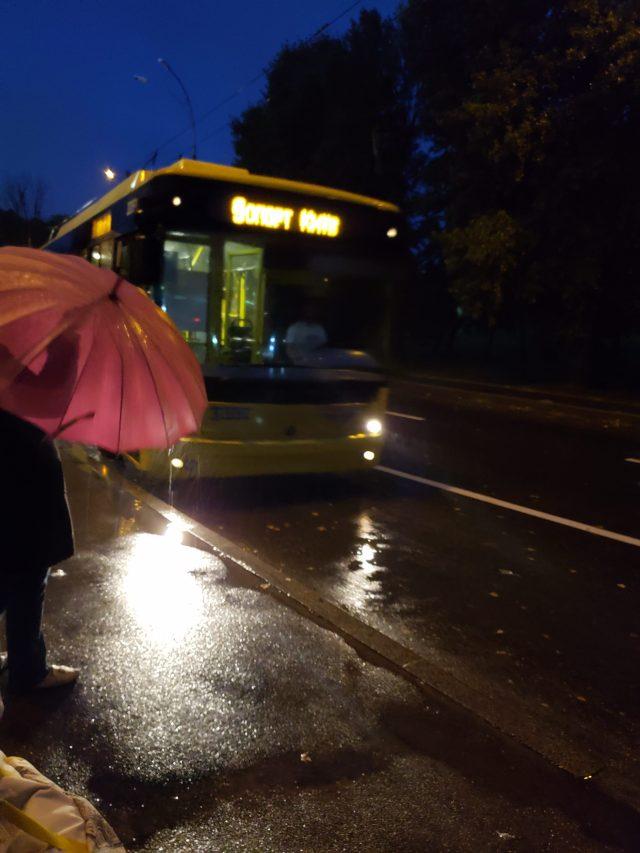 Kiev Tram Arriving