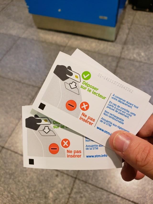 Montreal Metro Passes