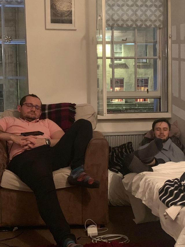 Shawn and Sam Sleeping