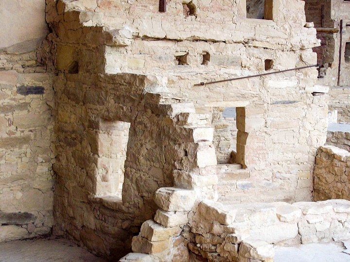 The native mountain housings at Mesa Verde.