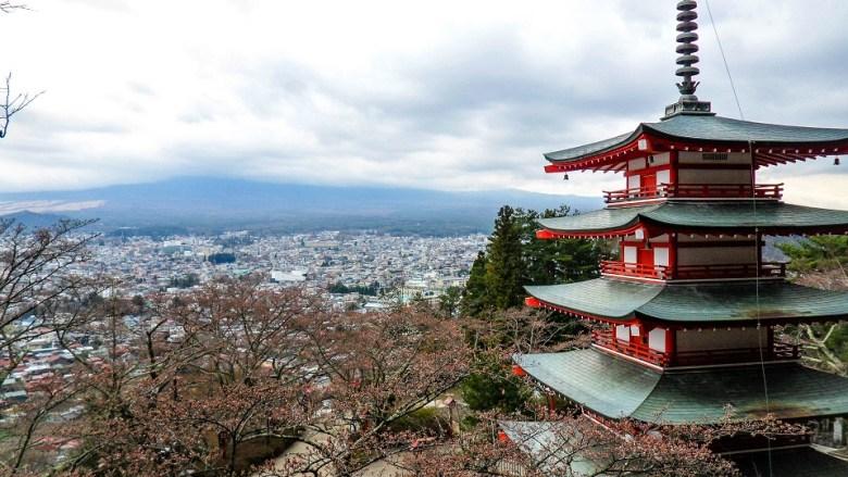 Pagoda & Mt. Fuji, Japan
