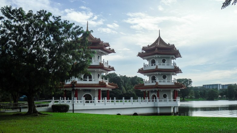Chinese Garden Twin Pagodas in Singapore