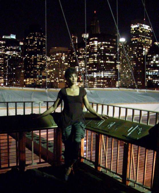on the brooklyn bridge, nyc, 2013