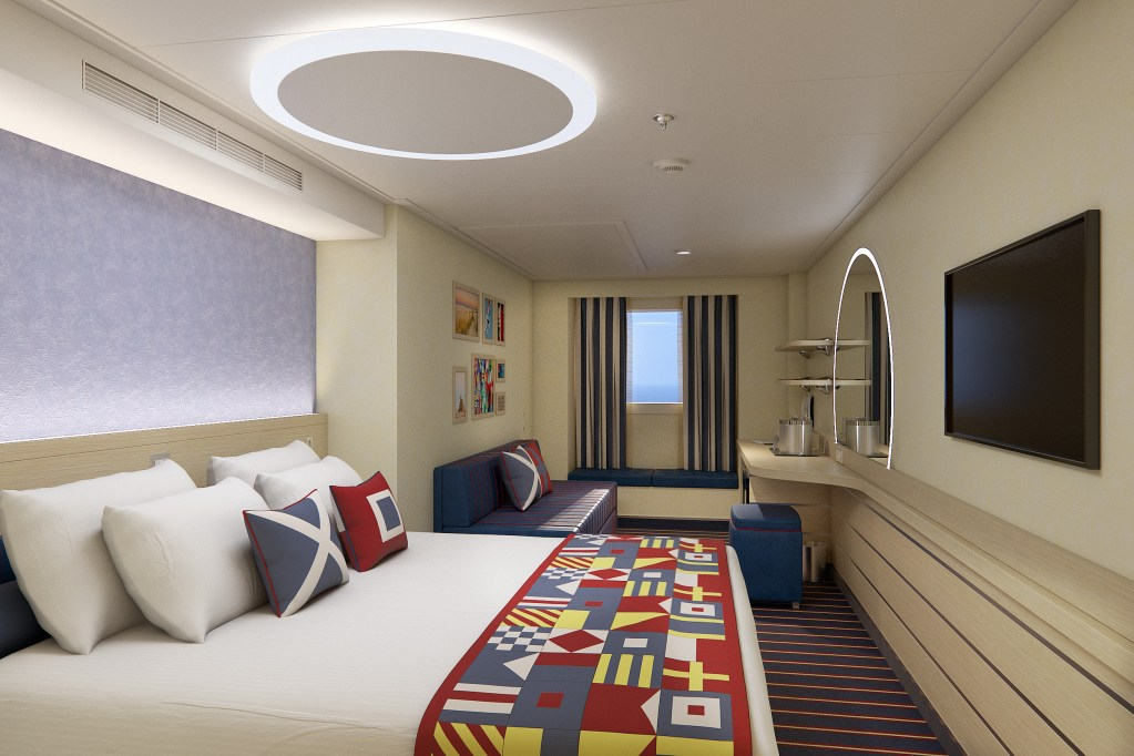 Family Harbor Stateroom on Carnival Cruise Line's Mardi Gras new cruise ship