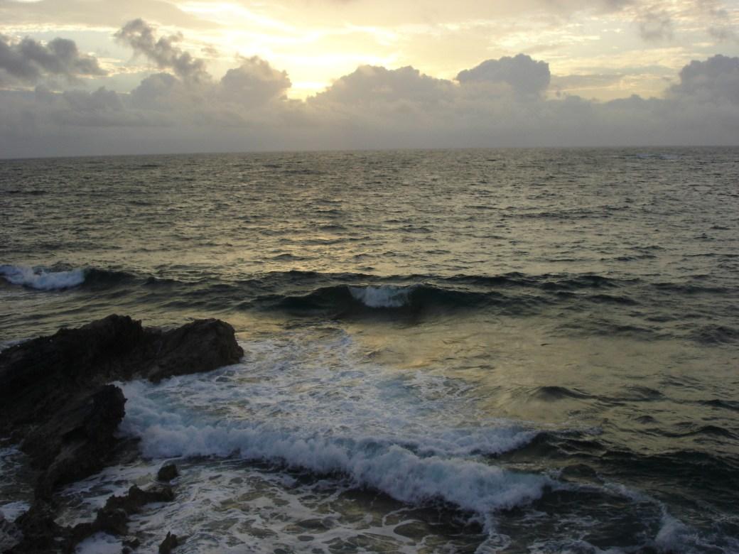 Scuba Diving at Sunset; San Salvador, Bahamas; 2005