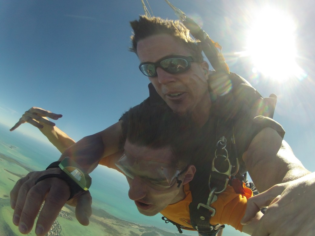 Josh First Sky Diving; Key West, FL; 2014