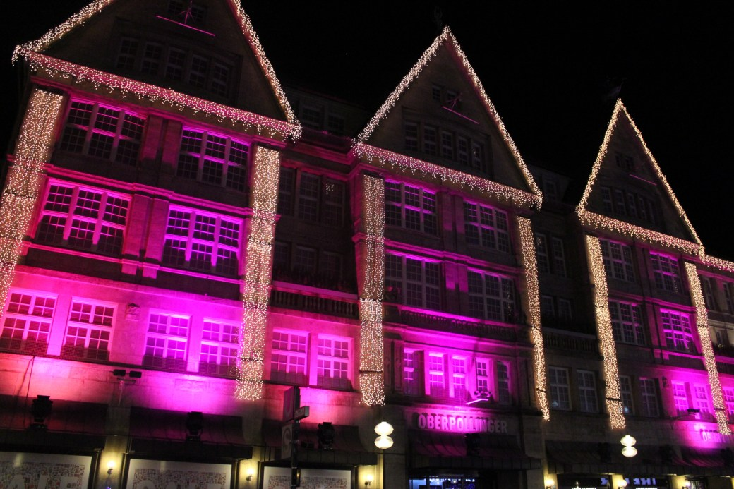 Pink Christmas Lights; Munich, Germany; 2012