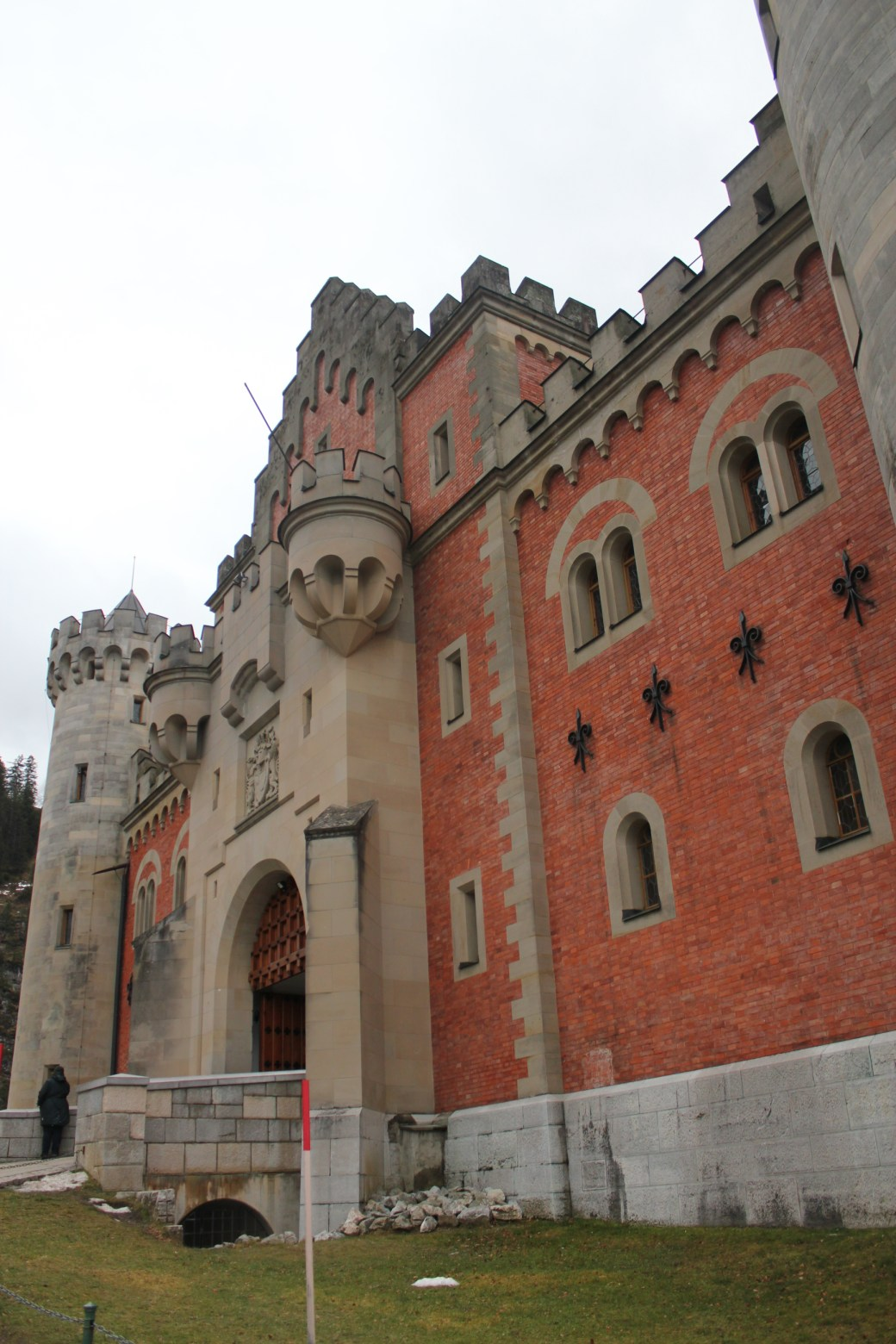 Front of Neuschwanstein Castle; Schwangau Village, Germany; 2012